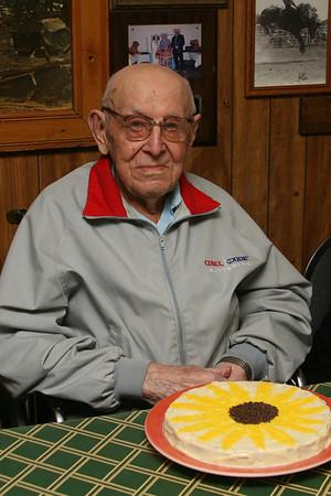 Joe Dobrowski's 2nd 105th Birthday Party, Wibaux, MT:  5/4/11