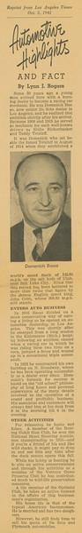 1941, Automotive Highlights