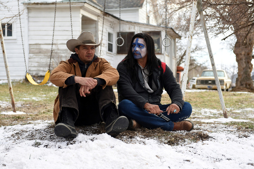 . Jeremy Renner, left, and Gil Birmingham share a scene in �Wind River,� which is in theaters Aug. 18. (The Weinstein Co.)