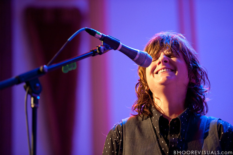 Amy Ray performs with Brandi Carlile on February 18, 2010 at Capitol Theatre in Clearwater, Florida