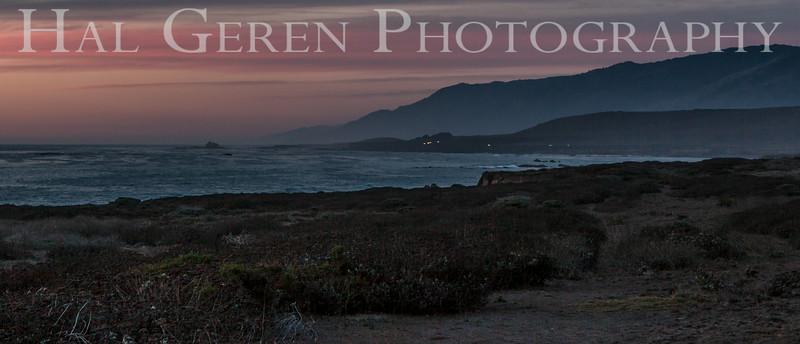 San Simeon Sunset Big Sur, California 1401BS-SSS1