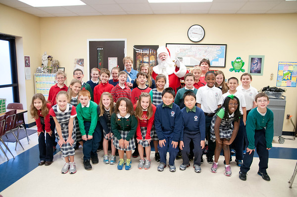 SHCS Class Picture with Santa 2012