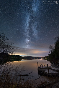 Milky Way over Silver Lake, Lee, Maine