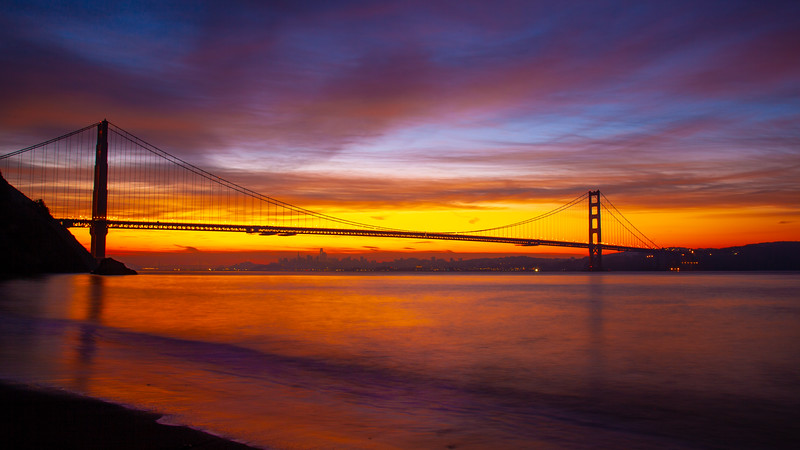 Golden Gate Sunrise from Kirby Cove