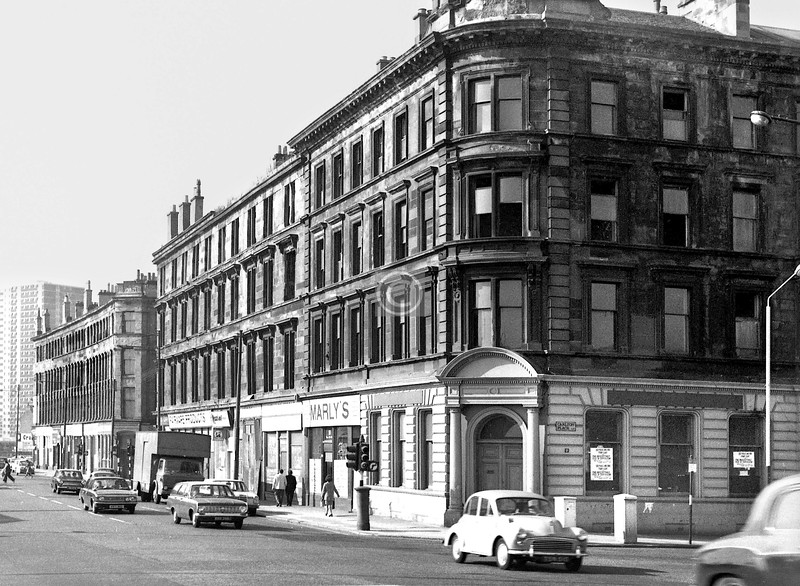 Gorbals St, west side south of Carlton Place.    September 1973