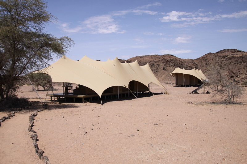 Our tent at Huanib Skelto Coast Camp
