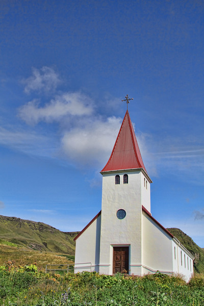Church in Vik. There were churches everywhere but this one was on the cover of the tour book we were using.