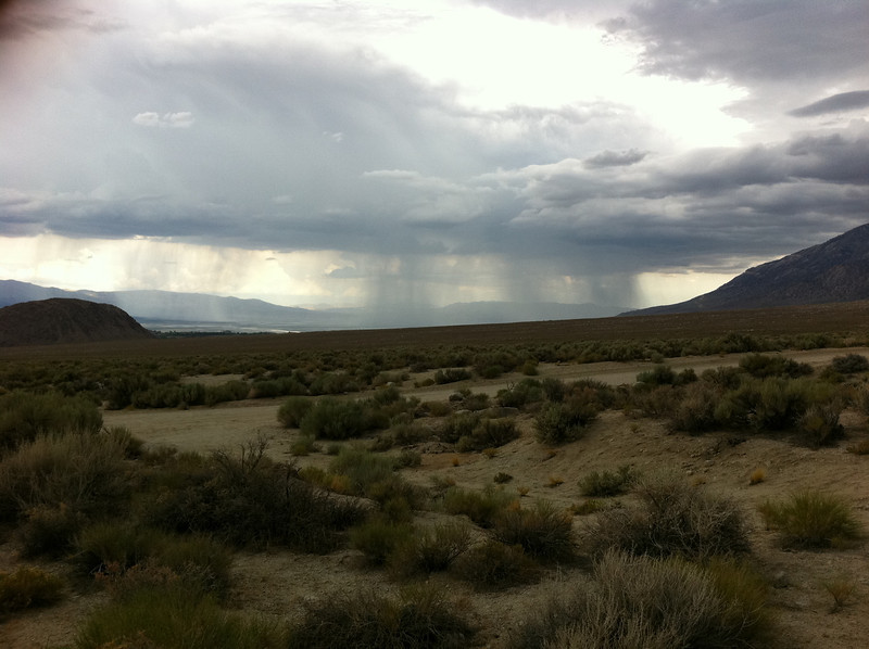 July 30, 2011.  Storm cells moving across the Owens Valley.