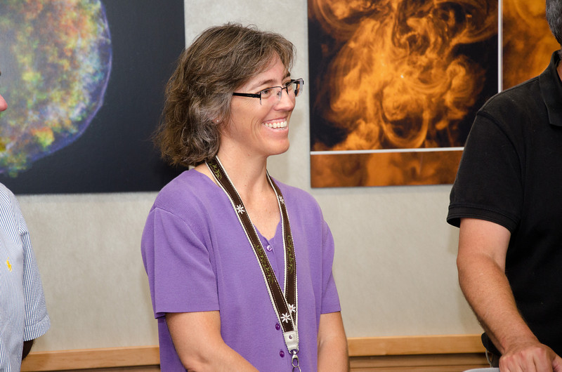 Julie Crooke -- Bruce Woodgate retirement party, NASA/GSFC, June 2013