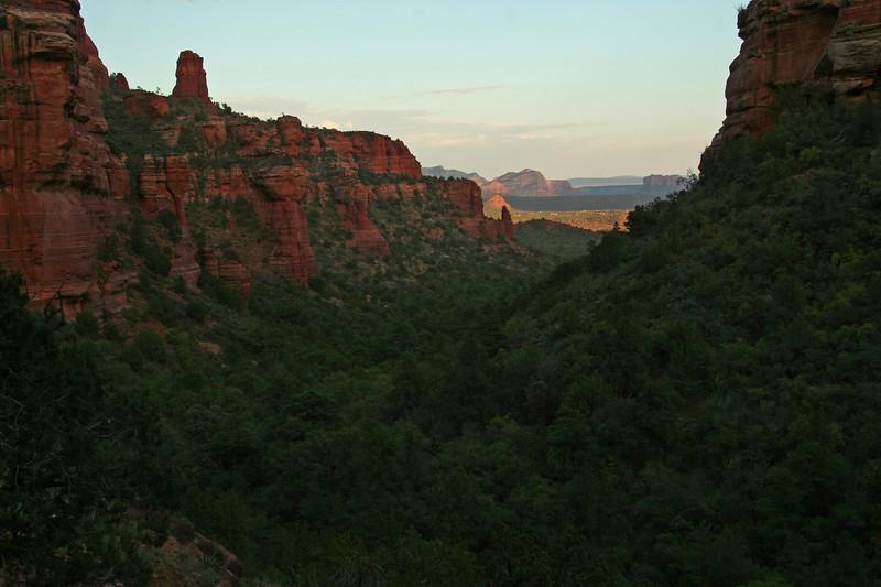 Fay Canyon at sunset.
