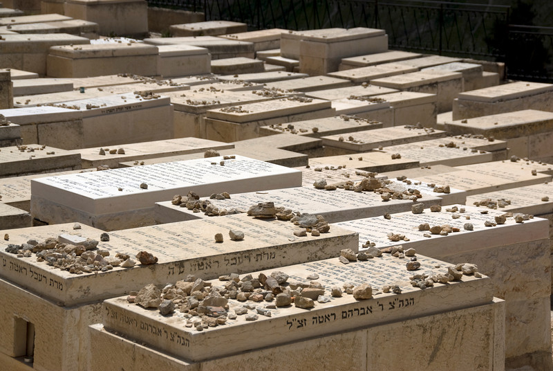 Jewish graves at Temple Mount in Jerusalem, Israel
