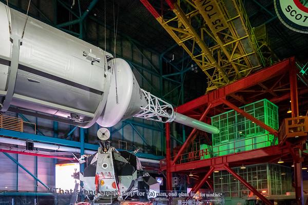 Saturn V Command Module, LEM and Gantry