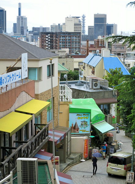 Downtown Kobe from the  Ijinkan (foreigners' area)