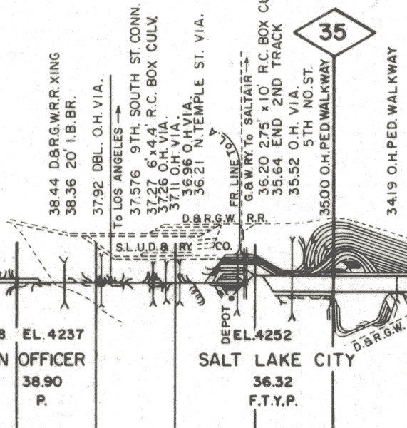 UP track diagram. 1978.
