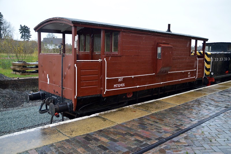 M732435 20t LMS Brake Van at Oswestry   28/11/15