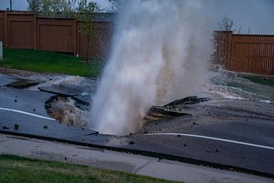 Links Parkway Water Main Break