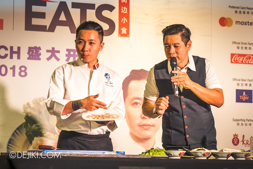 RWS Street Eats 2018 - Chef Steven Long preparing Vietnamese Summer Rolls Ben Thanh
