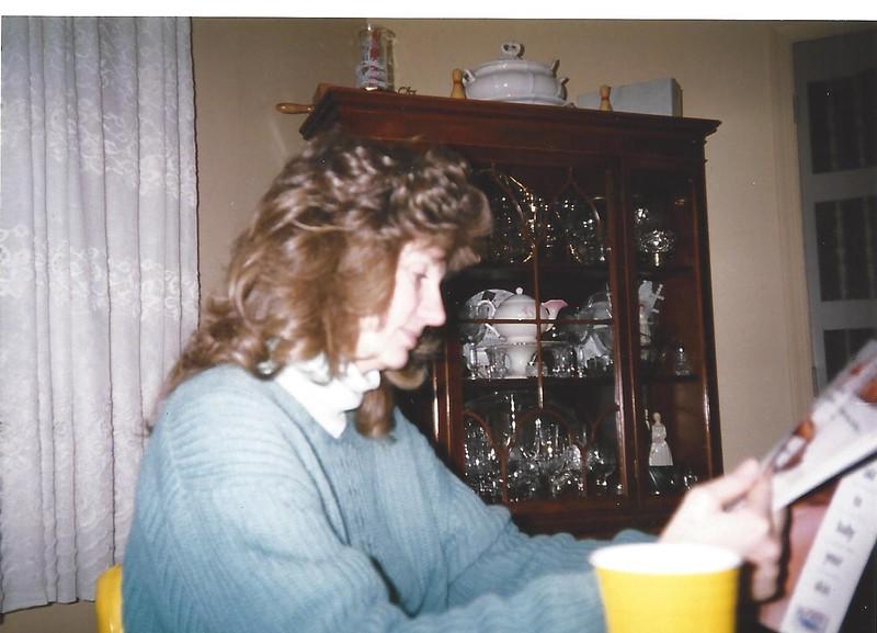 Erna in Mom's Dining Room