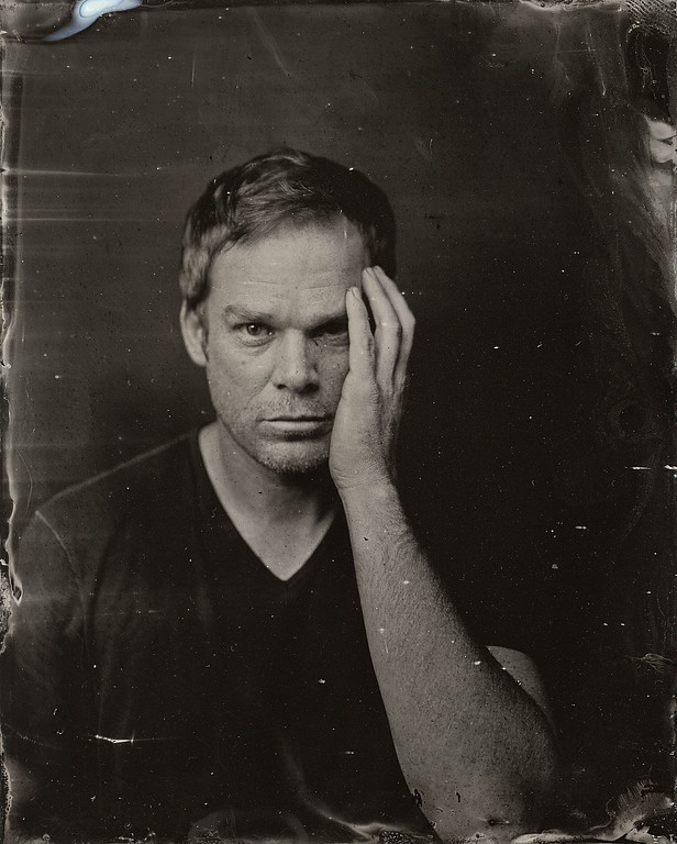 . Michael C. Hall poses for a tintype (wet collodion) portrait at The Collective and Gibson Lounge Powered by CEG, during the 2014 Sundance Film Festival in Park City, Utah. (Photo by Victoria Will/Invision/AP)