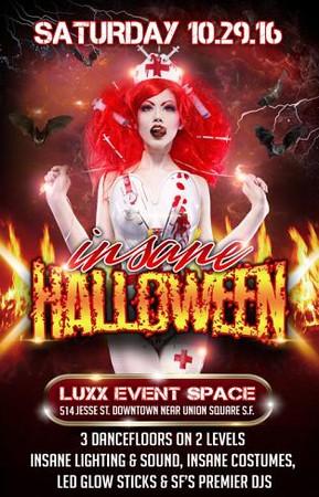 Insane Halloween @ Luxx Event Space 10.29.16