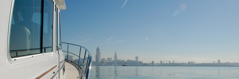 Bumboat approaching Cleveland