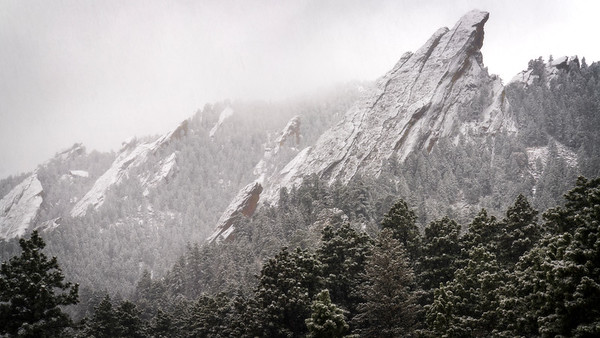The beauty of Boulder in Winter