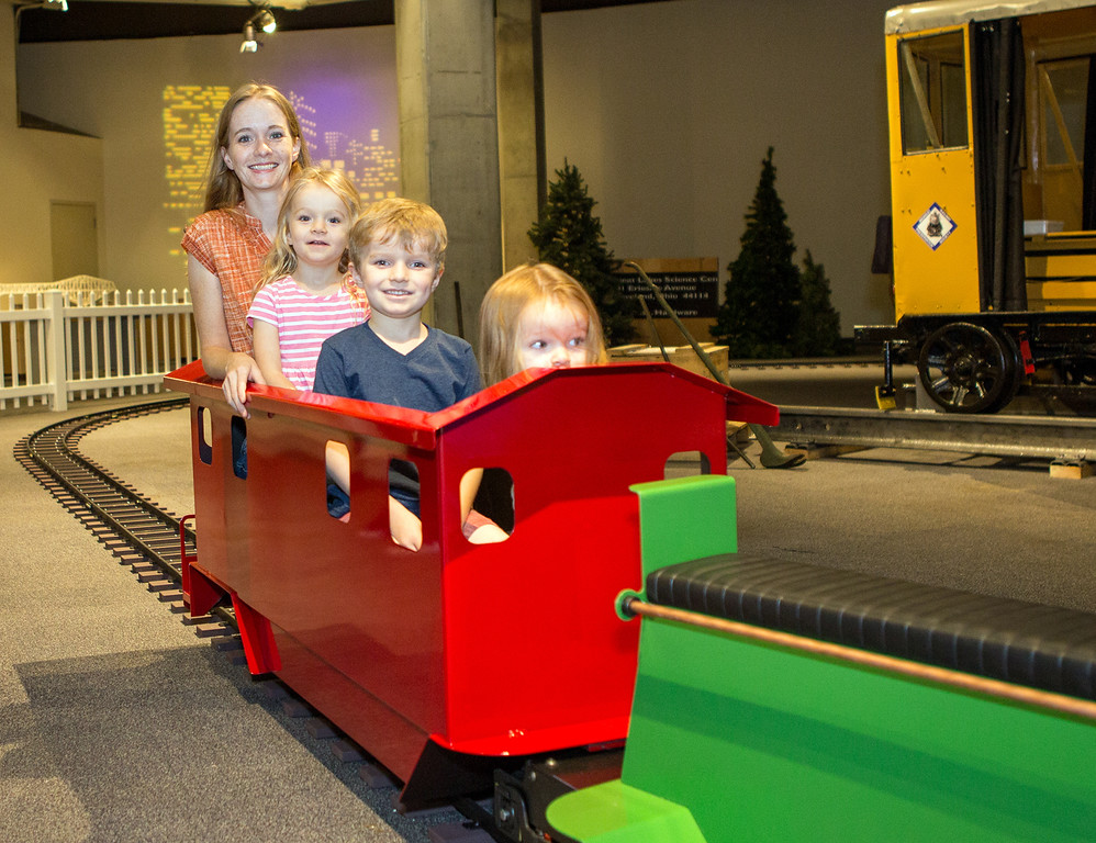 . �All Aboard! The Science of Trains,� an exhibit at the Great Lakes Science Center in Cleveland, is chock full of hands-on stations. The exhibit continues through Feb. 19. For more information, visit greatscience.com. (Anita T Orenick)