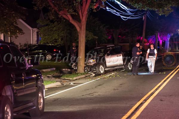 Glen Cove Car vs Pole 07/09/2014