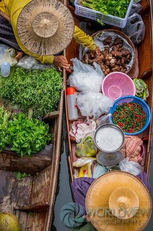 Floating cornucopia (Tha Kha market, Thailand)