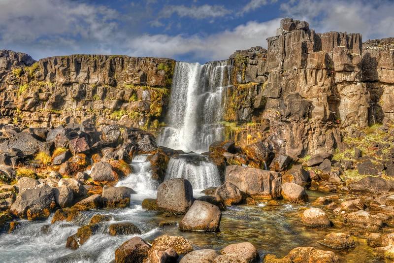 The falls in Thingvellir