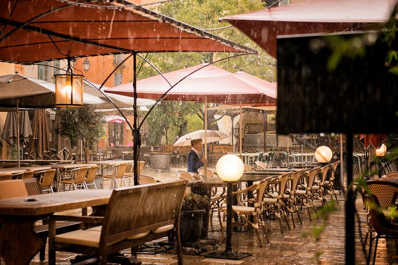 Valbonne in the rain