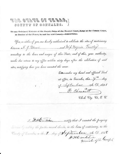 1858 ML - A.J. Moore and Virginia Tinsley ML531 Sep 7, 1858 b.jpg