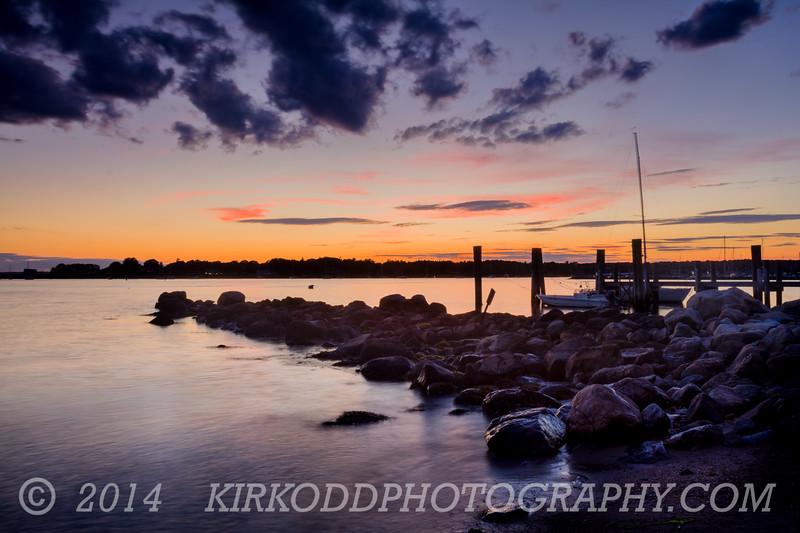 Sunset on the Rocks - Stonington Point