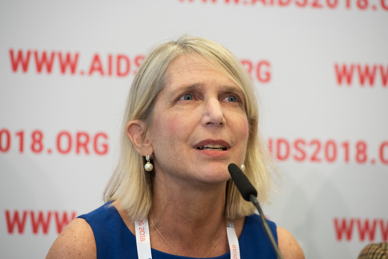22nd International AIDS Conference (AIDS 2018) Amsterdam, Netherlands   Copyright: Marcus Rose/IAS  Photo shows: Press Conference: Sub-Saharan Africa: New Insights, New Impact. Diane Havlir MD, Professor of Medicine, University of California, San Francisco, USA