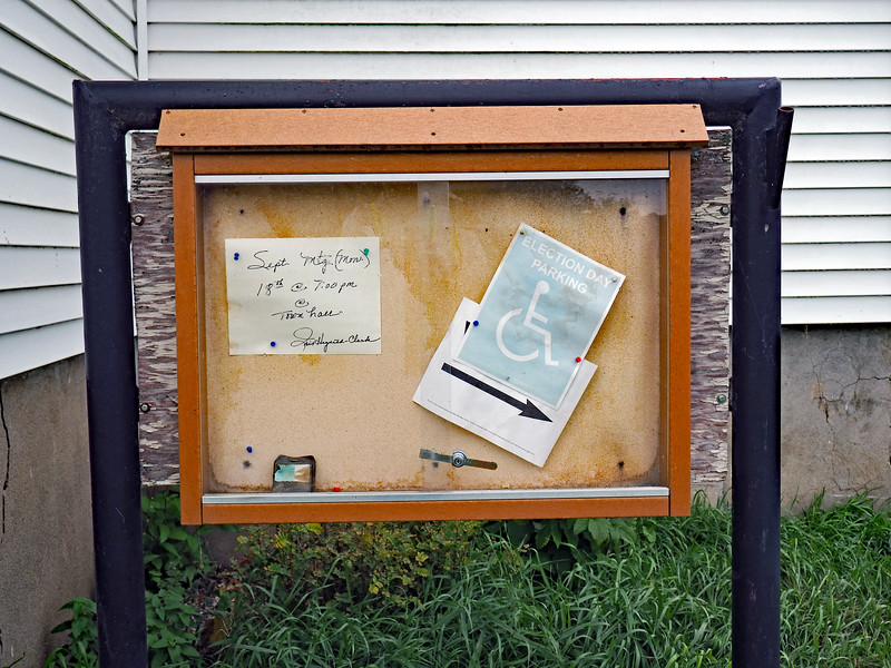 Iona Township notice board