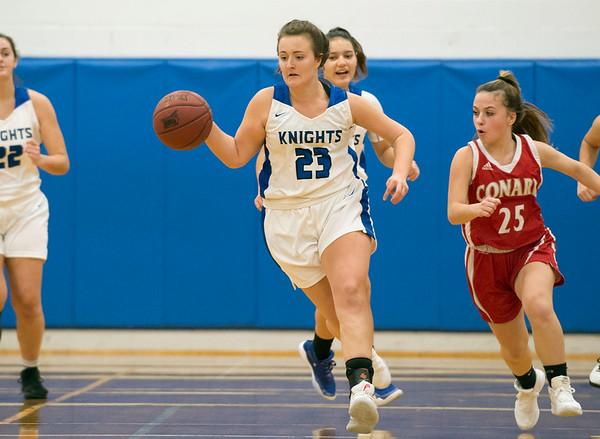 01/06/19 Wesley Bunnell   Staff Southington girls basketball vs Conard on Monday night at Southington High School. Megan Mikosz (23).