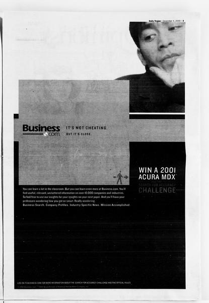 Daily Trojan, Vol. 141, No. 64, December 04, 2000