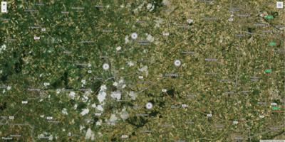 Map - Photo locations in Flanders fields