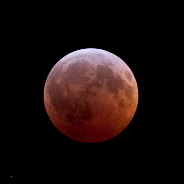 Lunar eclipse in totality