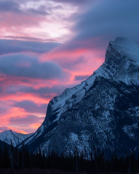 Mt Rundle, Banff National Park, Alberta, Canada