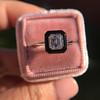 1.19ct Vintage Emerald Cut Diamond Onyx Ring, GIA E VS2 40
