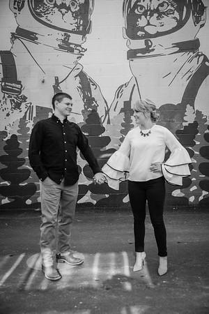 Hayley & Ryan B/W Engagement Photos
