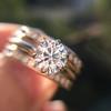 1.31tcw Round Brilliant Diamond Wedding Set, Est to be H, SI2      12