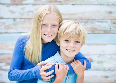 Annie&Ian child portrait photographs- close up, casual - 08/17/2016