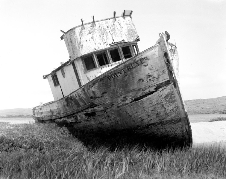 Old fishing boat at Point Reyes