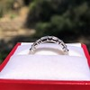 1.10ctw Round and Baguette Diamond Eternity Band 11