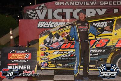 Grandview Speedway - 8/8/20 - Steve Sabo (SDS)