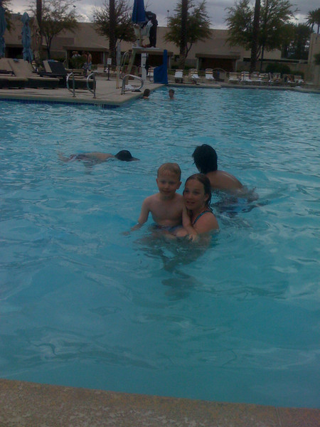 At the Luxor pool