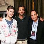 Max Legavere and Jason Silva with Jeff Owen