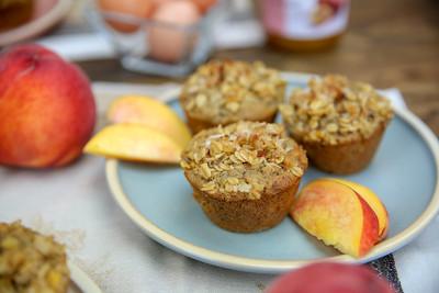 Gluten-Free Summeripe Peach Muffins